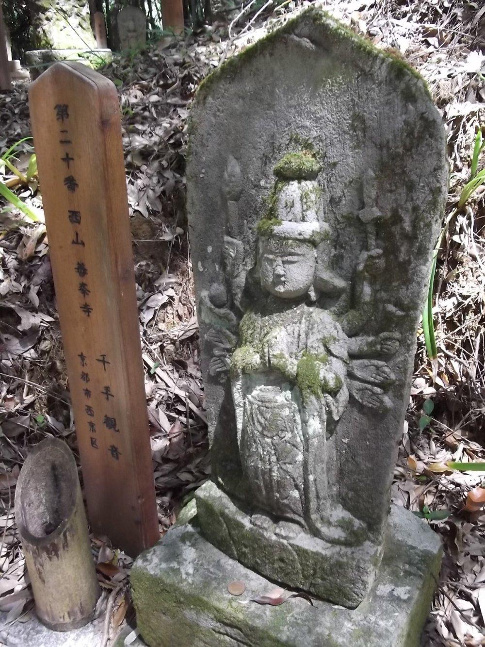 Одна из хорошо сохранившихся статуй