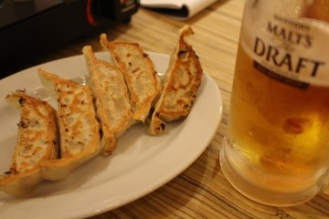 <p>Pan-fried gyoza.. one of my personal favorites</p>