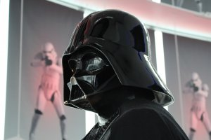 Darth Vader model close-up at the entrance© & TM Lucasfilm Ltd.