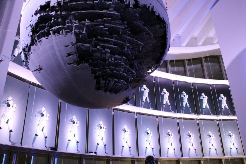 Death Star exhibit at the entrance© & TM Lucasfilm Ltd.