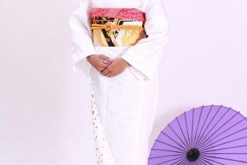 <p>Первое изображение, полученное в процессе надевания кимоно. &nbsp;</p>