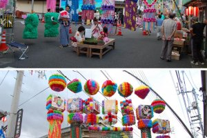 The street is completely transformed for the festival.