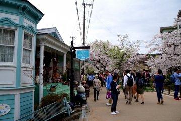<p>테츠가쿠노미치 주변 가게</p>