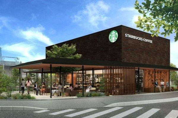 Một hình ảnh của cửa hàng Starbucks Tottori mới mở