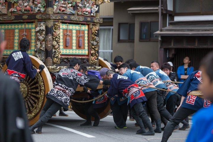 Le festival Hikiyama à Yatsuo