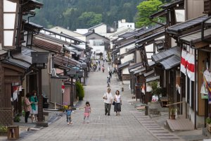 The old streets of Yatsuo are lined with traditional houses