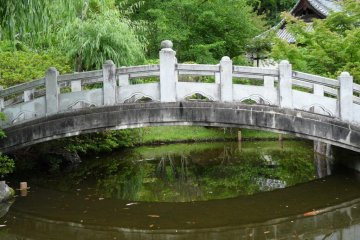 small bridge leading to the main park