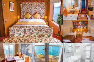Bagian dalam dan luar mini suite dan suite ditunjukkan sepanjang hari pameran
