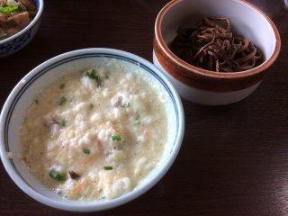 Beautiful gojiru (smashed soybean soup)