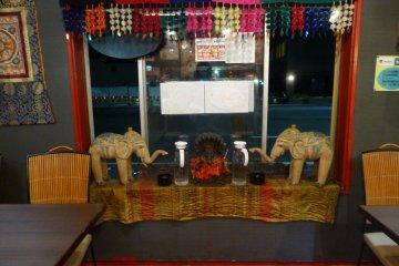 Decorations adorn the inside of Juntara