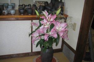いけられた花