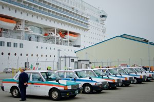 At your service - local taxis wait for inquisitive passengers.