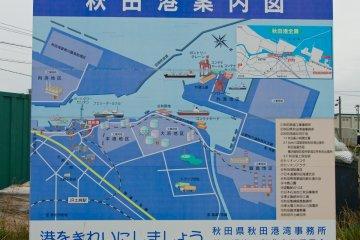 <p>Map showing Akita port area</p>