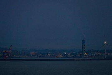 <p>Atmospheric view of Akita port departing aboard Costa Victoria for Busan</p>
