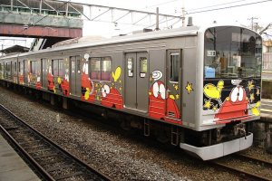 The manga themed trains will return to their home station after 4 years