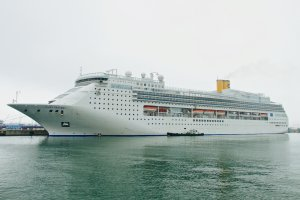 Costa Victoria moored in Busan