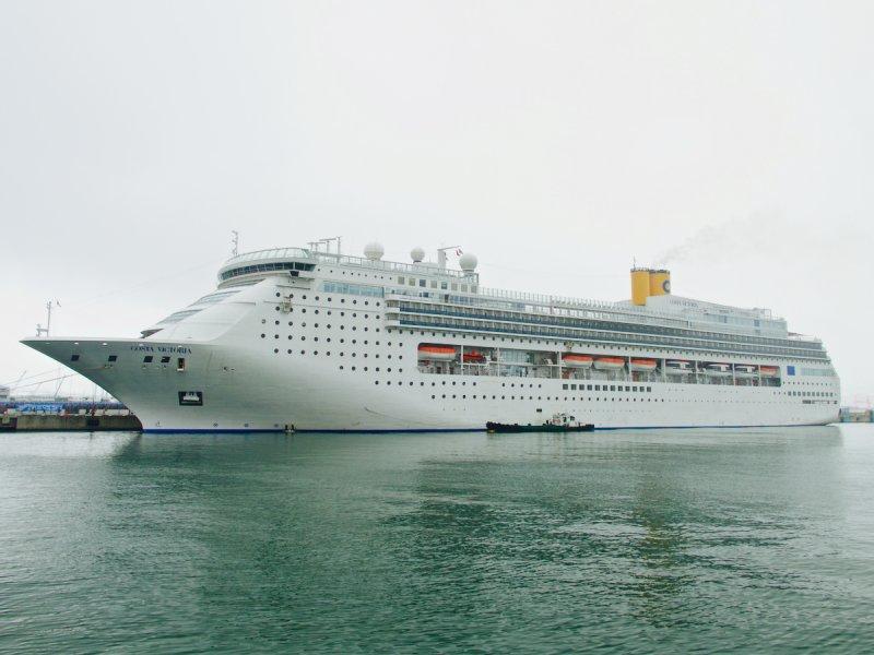 <p>Costa Victoria moored in Busan</p>