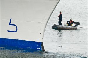 Cruise maintenance checks on Costa Victoria