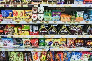 <p>Snacks Korean style - you will notice some Japan faves in there too</p>