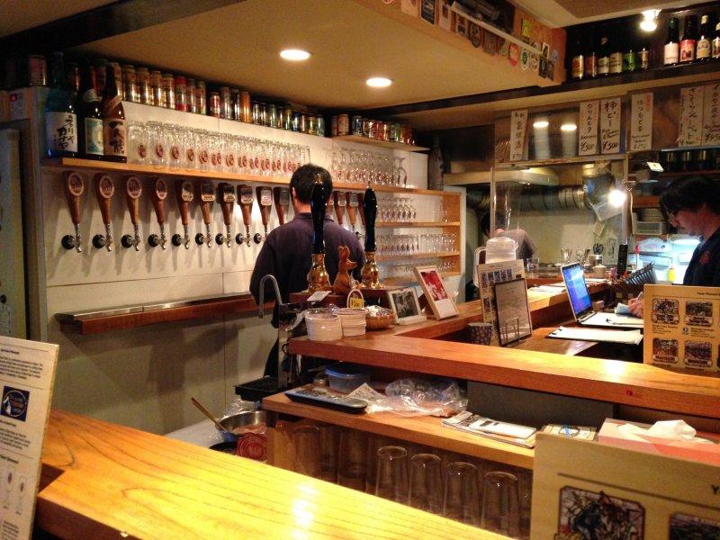 <p>Baird Taproom Harajuku&nbsp;Wall of Beer!</p>