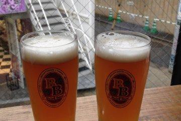 <p>Baird Taproom Harajuku&nbsp;two Red Rose Amber Ales.</p>