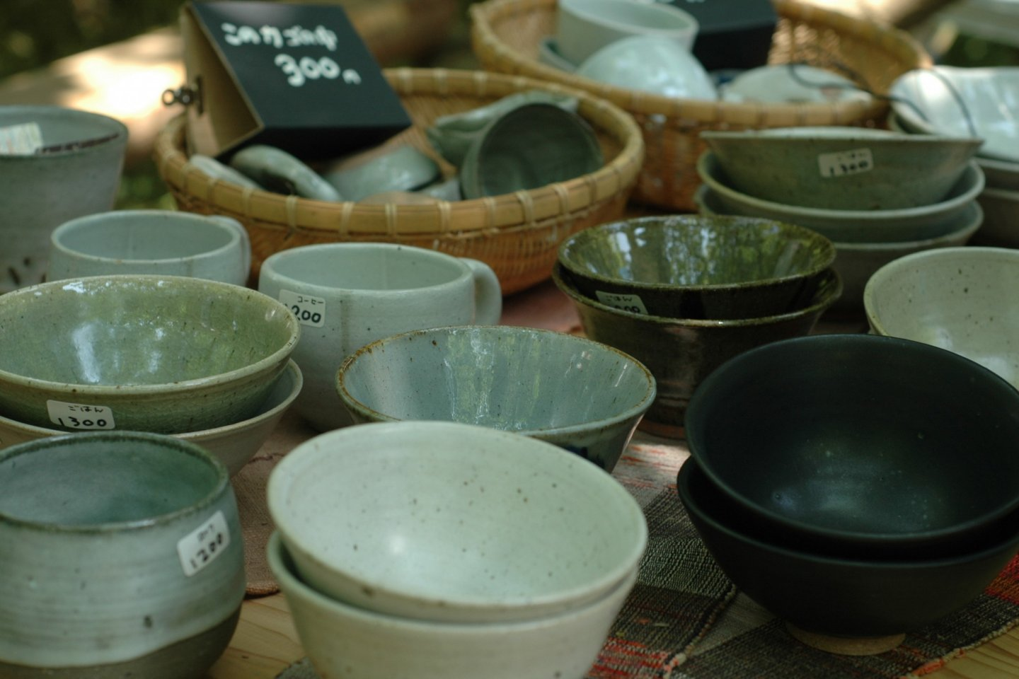 Beautifully handcrafted tea cups and bowls.