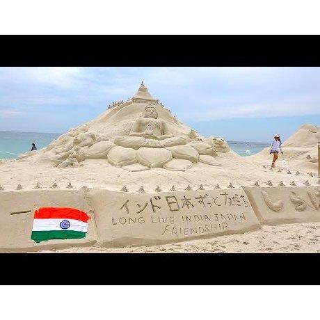 시라하마 해변 모래예술 대회