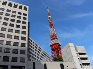 A son approche, la Tokyo Tower peut être dissimulée par plusieurs ensembles d'immeubles. Pour ceux qui ne souhaiteraient pas marcher depuis le quartier de Roppongi, le mieux reste de descendre à la station Akabanebashi sur la ligne Oedo