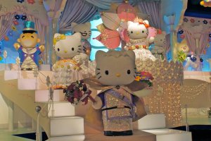 Hello Kitty is throwing a party! See Dear Daniel with Hello Kitty and her family on the Sanrio Character Boat Ride.