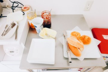 <p>This is the type of breakfast guests can get every morning. Guests can also get a cup of tea or coffee.&nbsp;</p>