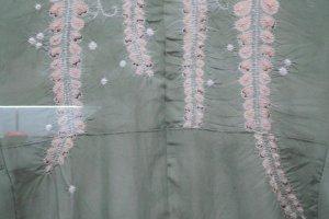 A beautiful floral design on a kimono