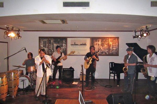A local band rocking an original piece