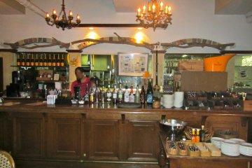 <p>The bar</p>