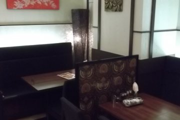 <p>Inside the restaurant</p>
