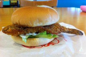 Hata hata burger with giveaway fishtail!