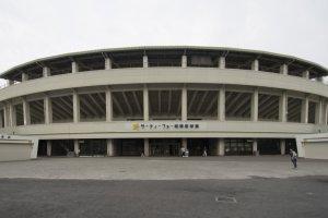 The front facade ofThirty-Four Sagamihara Baseball Park.