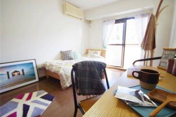 <p>Oakhouse: Social Residence 相模原 里其中一间典型房间。</p>
