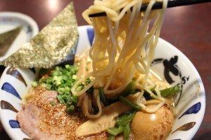 Tasting the noodles