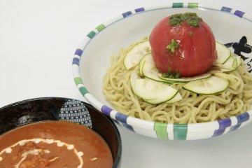 <p>Nanashi also offer seasonal dishes &ndash; including this chilled tomato tsukemen!</p>