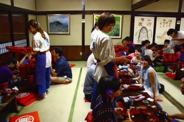 <p>The wanko soba challenge is very popular amongst visitors and restaurants are usually busy.</p>