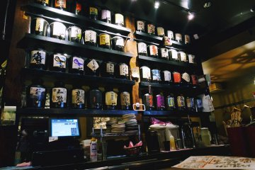 <p>Their impressively extensive collection of alcohol</p>