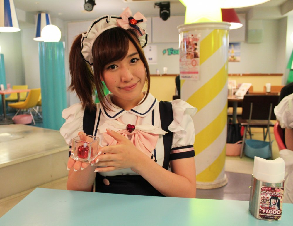 The 'open ceremony' at Akihabara maidreamin Maid Cafe