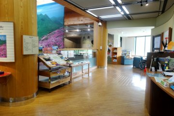 <p>The visitors center is well stocked with information, in multiple languages</p>