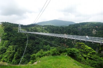 <p>The Kokonoe Yume Suspension Bridge</p>