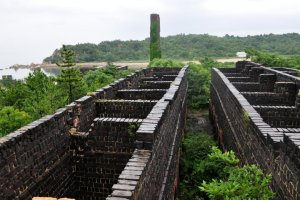 Remains of the copper smelting ovens at the Seirensho