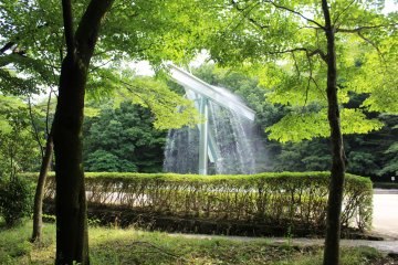 <p>The sounds of nature and running water combine</p>
