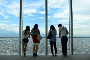 "The Abeno Harukas observatory, ""Harukas 300"" - Japan's latest three-star tourist destination"
