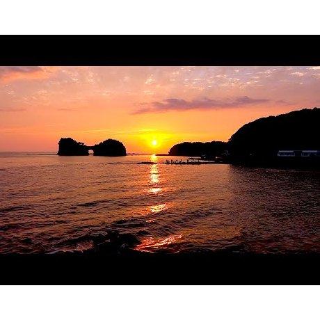 엔게쯔 섬의 해질녘