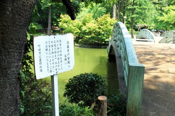 <p>The bridge over the pond gives you a great view of the fish &nbsp;</p>