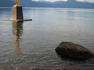Or the famous Tatsuko monument, created for the master of the lake